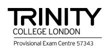 Trinity logo english